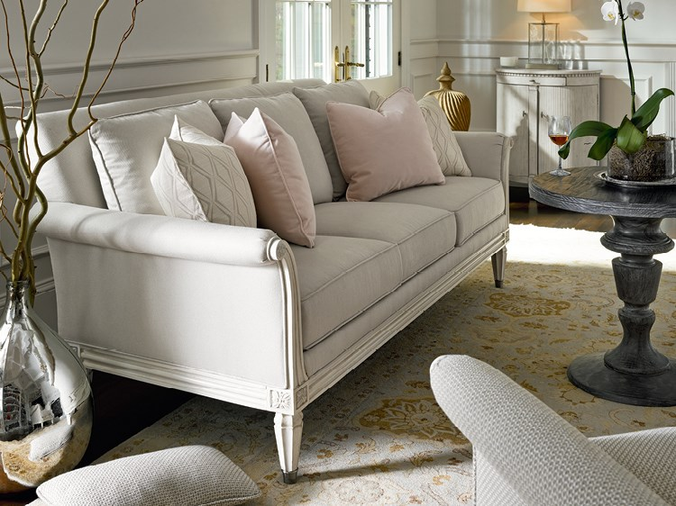 White Luxury Sofa With Hint Of Pink Al Rugaib Furniture Pinterest Luxury Sofa Furniture And Sofa