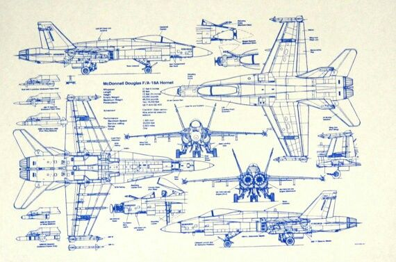 F18 blueprint aircraft pinterest aircraft and airplanes f18 blueprint malvernweather Image collections