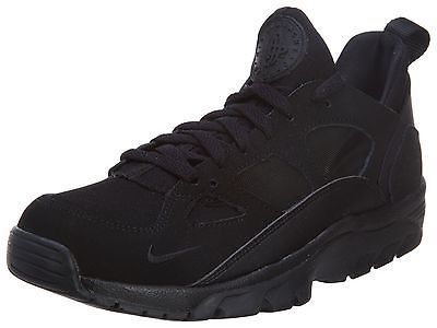 62dd95c58027b Nike Air Trainer Huarache Low Mens 749447-001 All Black Athletic Shoes Size  7.5