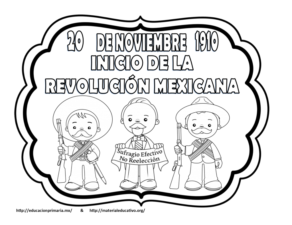 Noviembre12 Revolucion Mexicana Dibujos Revolucion