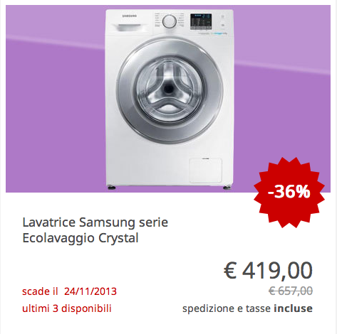 Samsung #Lavatrice #Ecolavaggio #Crystal | TrovaPrezzi Deals ...