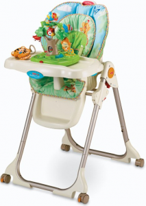 738558e6bb4c Fisher Price Rainforest Healthy Care High Chair Family from the Baby ...