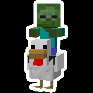 Minecraft Chicken Jockey Minecraft Stickers Minecraft Pictures Minecraft