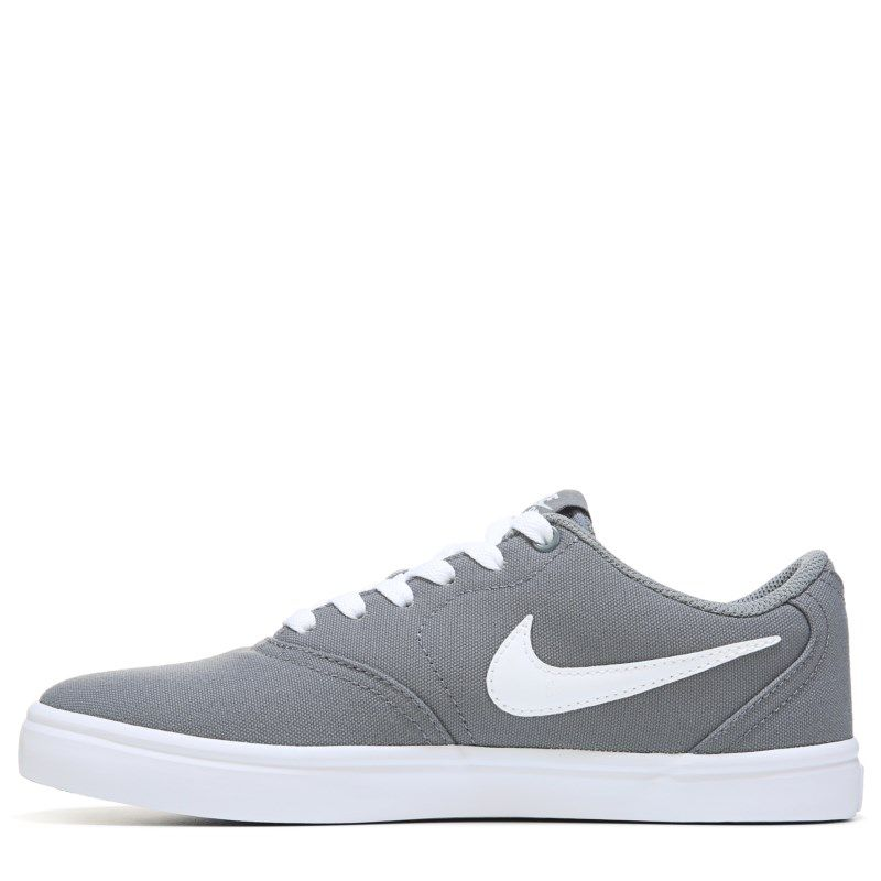 huge selection of cfac2 5fb3d Nike Women s Nike SB Check Solar Canvas Skate Shoes (Grey White) - 11.0 M
