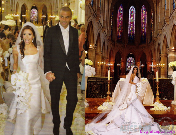 84dc2351da3 Eva Longoria + Tony Parker Wedding