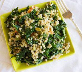 Kasha With Kale Pseudograin Recipe From Paleo Vegan Vegan Paleo Recipes Vegetarian Recipes Vegetarian Vegan Recipes
