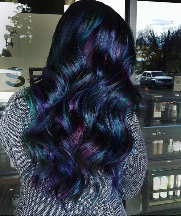 23 Schönes blaues Schwarz Haarfarbe-Ideen zum Kopieren