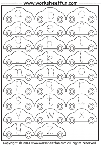 small letter tracing worksheet