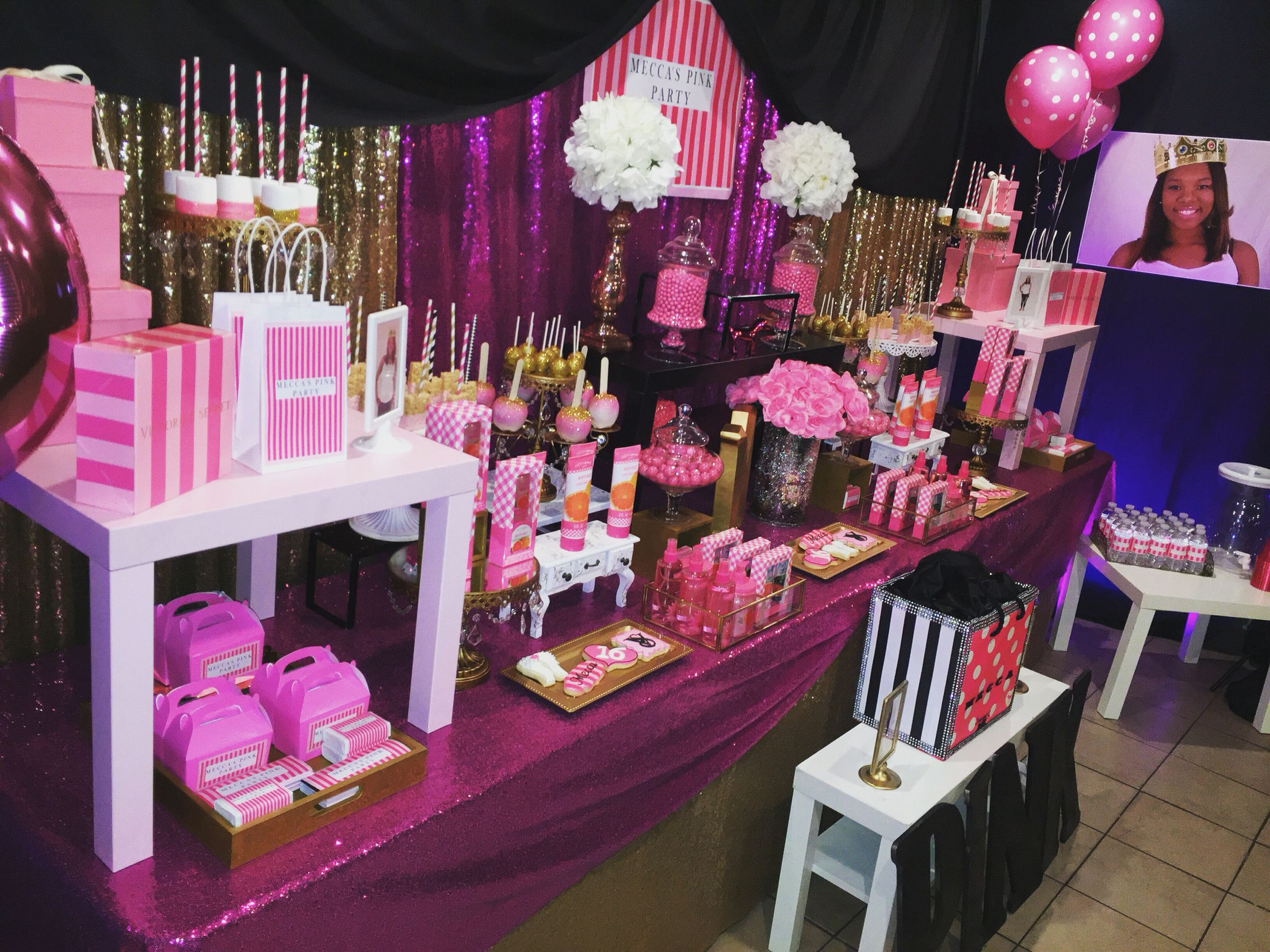 Victoria S Secret Pink Party With Images Pink Birthday Party