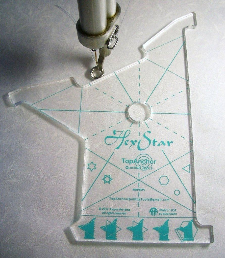 HexStar Machine Quilting Template | Laser cut acrylic, Laser cutting ...