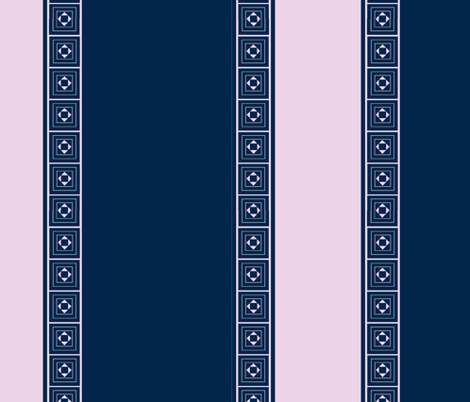 Large Stripe in Navy and Lavender fabric by cricketnoel on Spoonflower - custom fabric