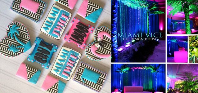 event theme miami vice weddings events parties decorations gourmet