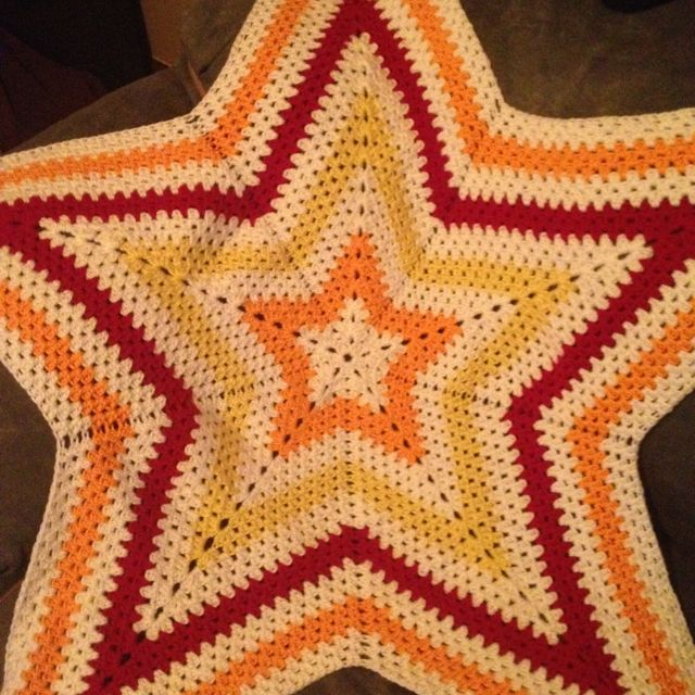 Crochet Star Blanket Pattern Found On Ravelry Crochet I Made
