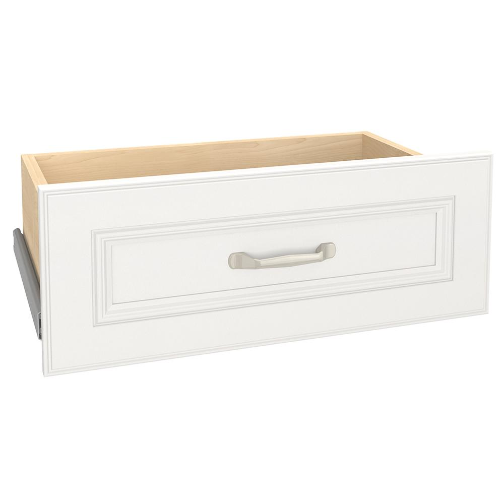 Closetmaid Impressions 21 54 In X 8 7 In White Standard Wood Drawer Kit 14615 The Home Depot Wood Drawers Closet System Closet Organization