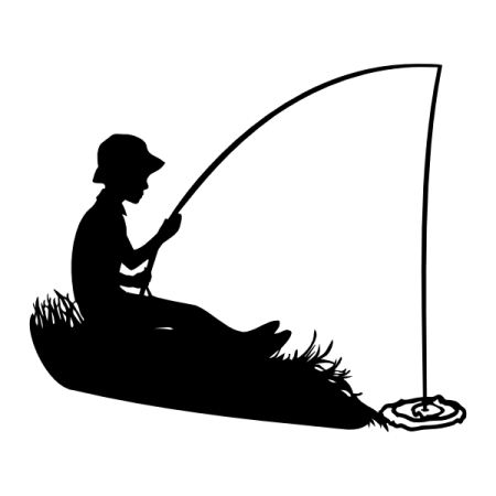 Boy Fishing Silhouette Svg Die Cutting Fish Silhouette Boat