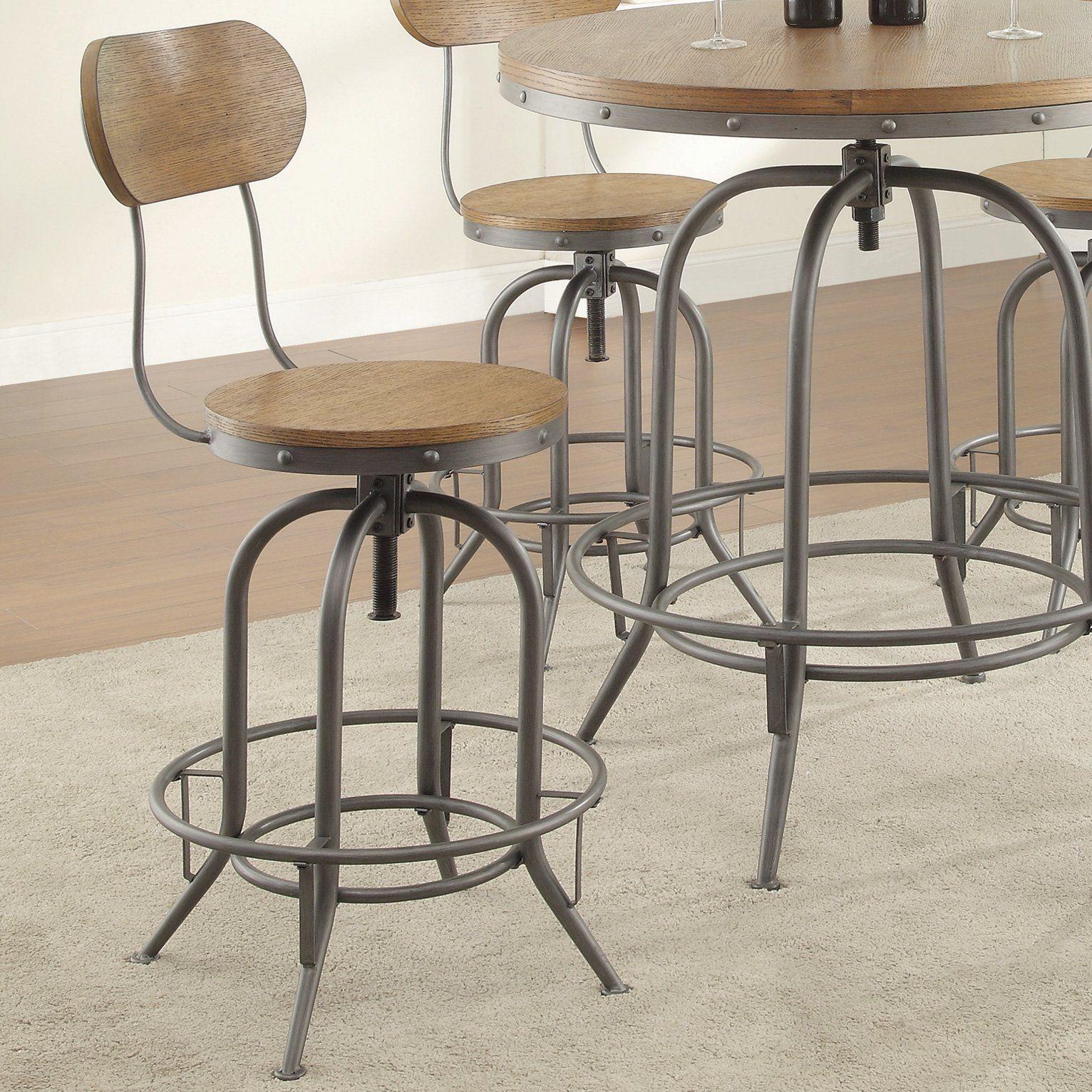 Trent Austin Design Doliver Adjustable Height Swivel Bar Stool