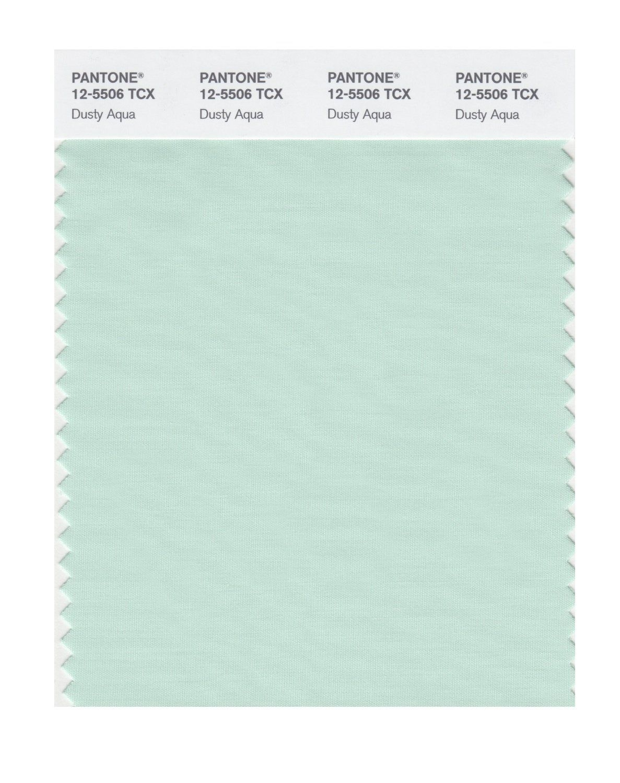 Pantone smart 12 5506x color swatch card dusty aqua Sage green pantone