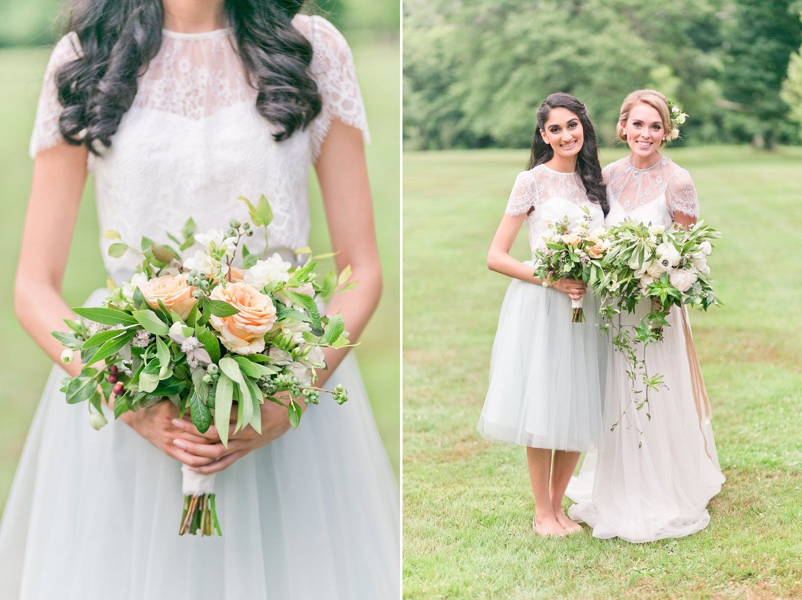 Pretty spring wedding ideas in soft pastels and rose gold romantic