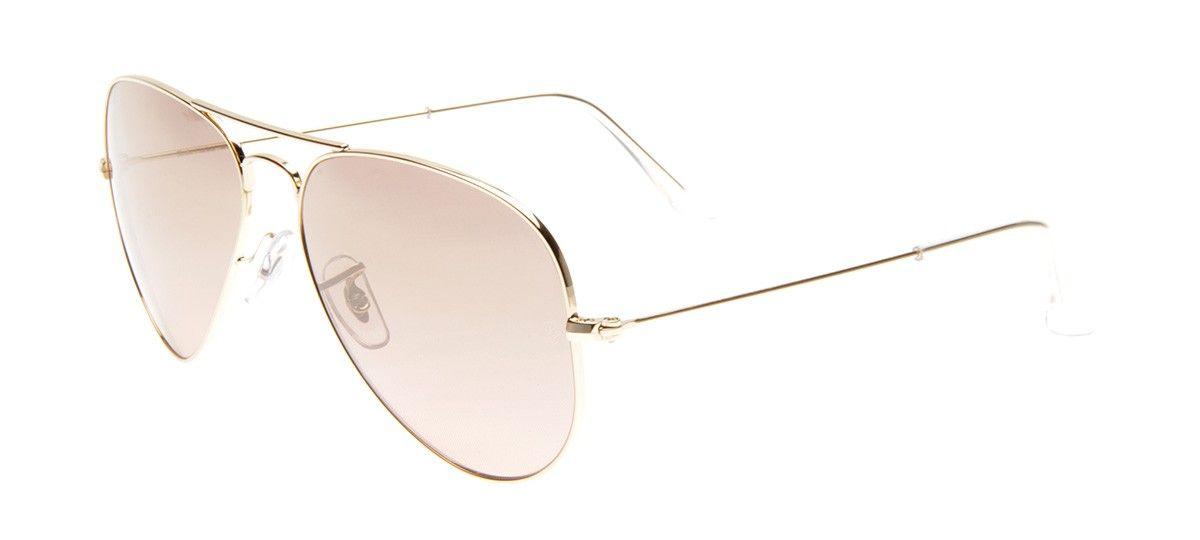 Óculos Ray-Ban RB3025L Aviador 58 - Dourado Rosê - 001 3E   Ray-Ban ... a4a16459f5