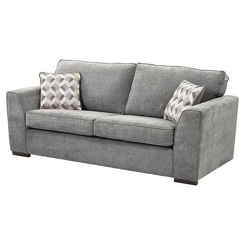 Tesco Direct Boston Large Sofa Dark Grey