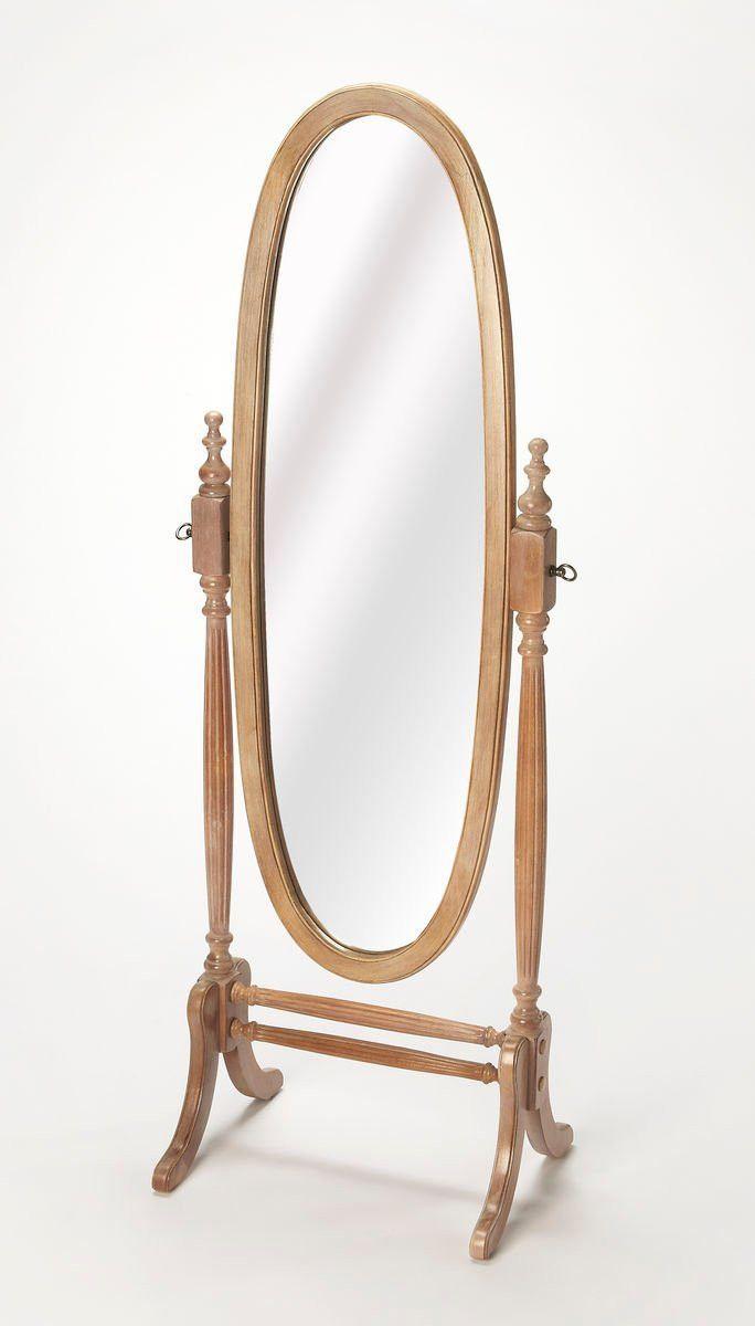 Caroline Traditional Oval Cheval Mirror Gray | Cheval mirror ...
