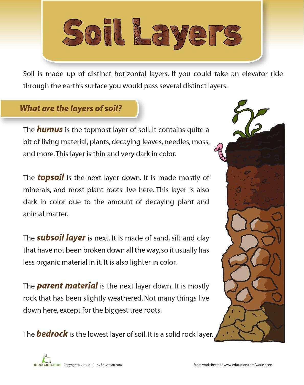 Worksheets Soil Horizons Worksheet related image soil pinterest image