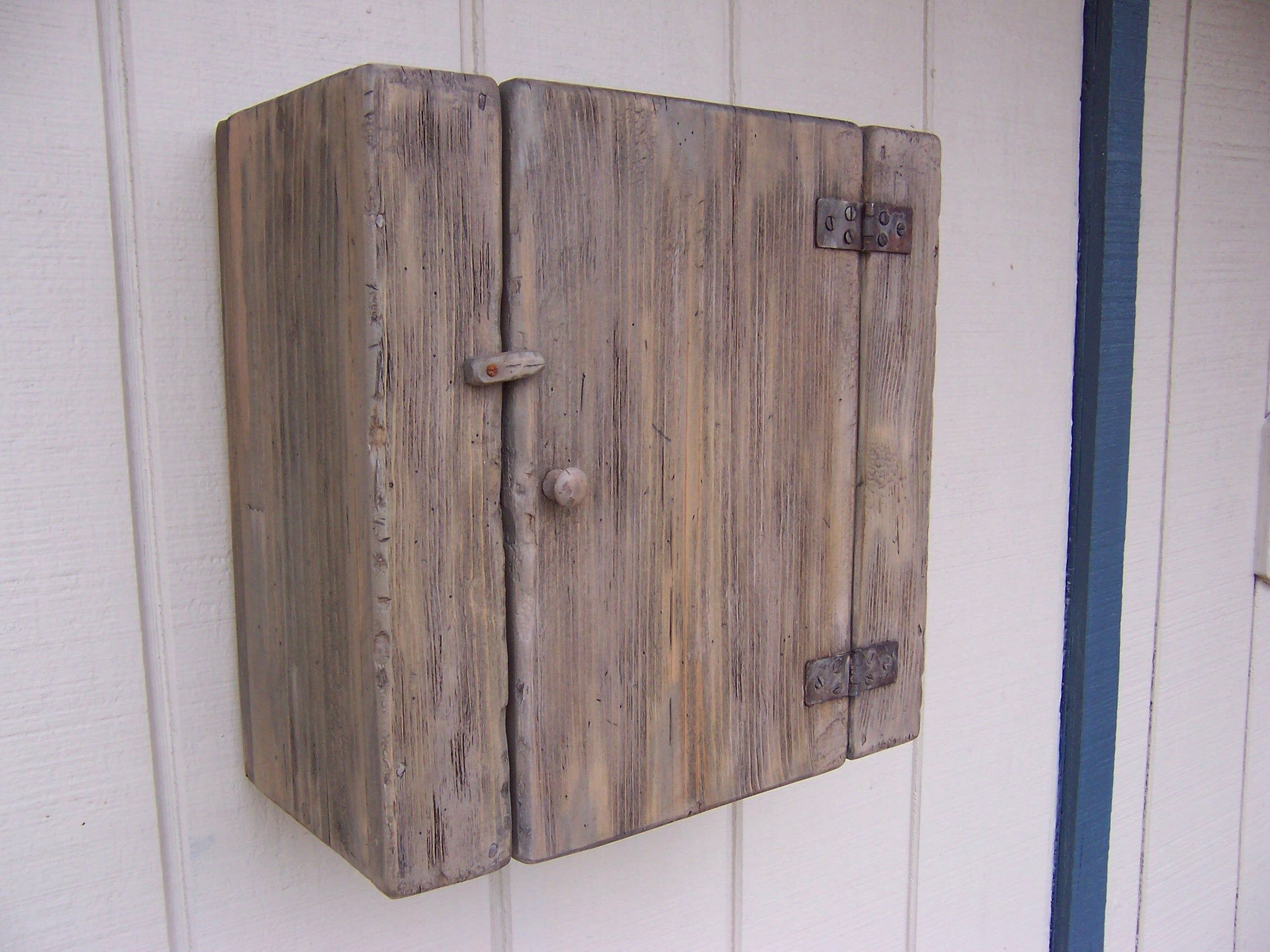 Wall Cabinet Primitive Small Cupboard Shelf Cottage Shabby Chic Hanging Distressed Cabinet Rustic Farmhouse Small Cupboard Cupboard Shelves Distressed Cabinets