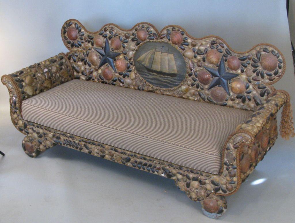 Nautical seashell sofa geotapseo Image collections