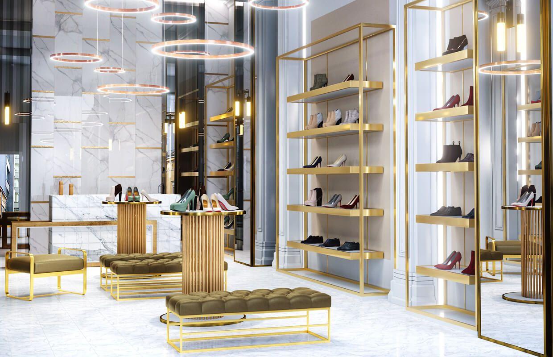 Luxury Shoe Store Design Retail Interior Design London Uk Expositores De Loja Lojas De Sapatos Decoracao Da Sala