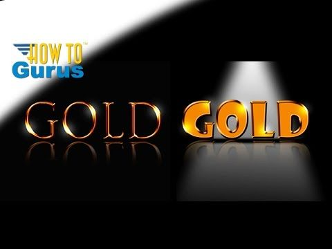 Photoshop Gold Text Effect, How to make text look like Metalic Gold, Adobe Photoshop CC CS6 CS5 Tutorial