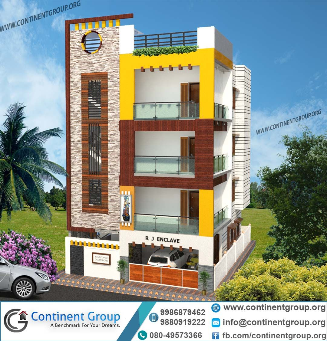 3d Front Elevation Design 3d Building Elevation: 3d Front Elevation Ground Plus 3