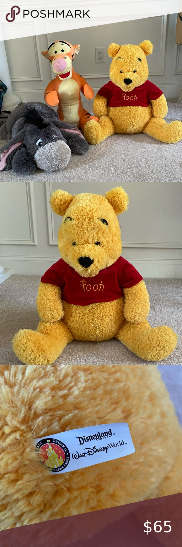 Bundle of Winnie the Pooh Plushes in 2020 Winnie the