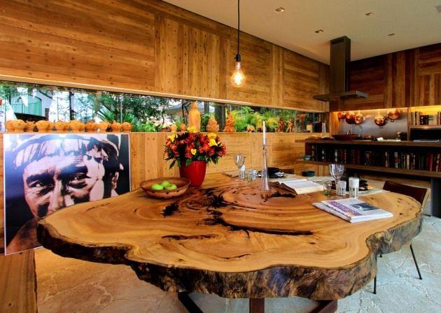 Naturholz Möbel Tora Brasil esstisch massivholz organische form - designer mobel aus treibholz