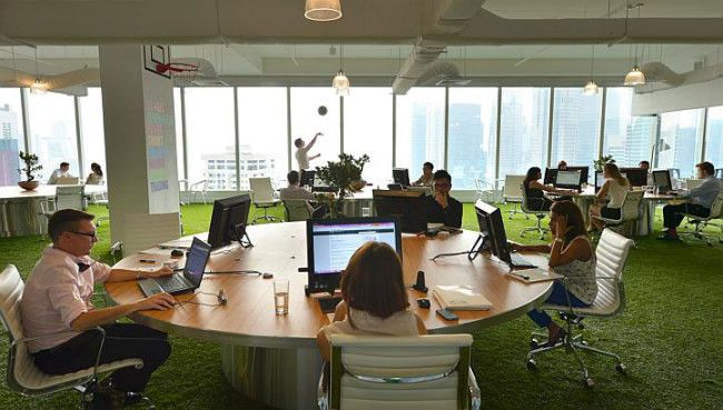 FUNKY NEW OFFICE BY SPENCER OGDEN IN SINGAPORE