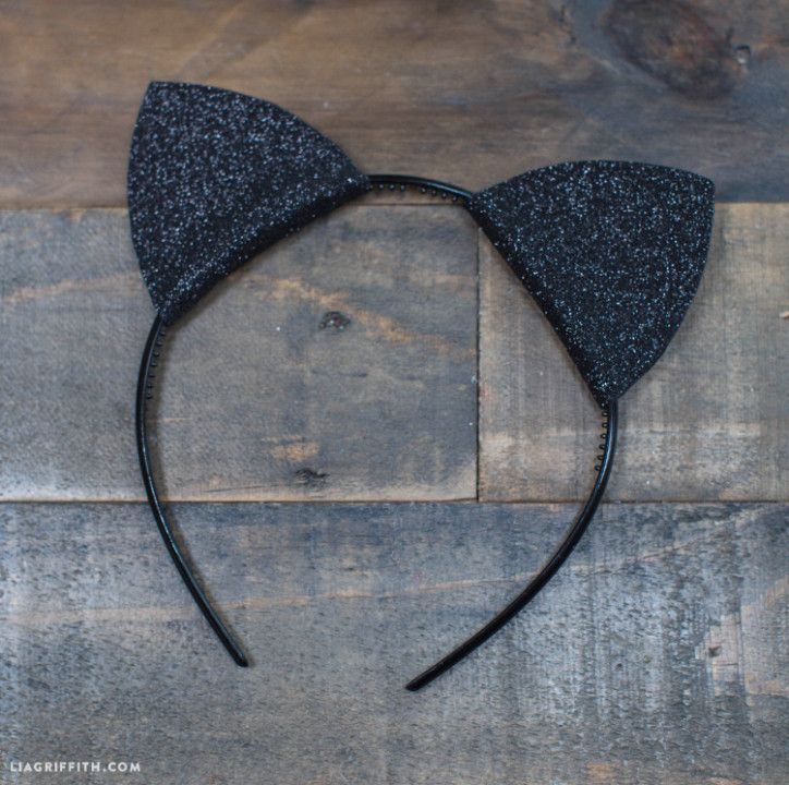 Cute Crafty Diy Felt Cat Ears For Halloween Lia Griffith Diy Cat Ears Halloween Cat Ears Cat Costume Diy