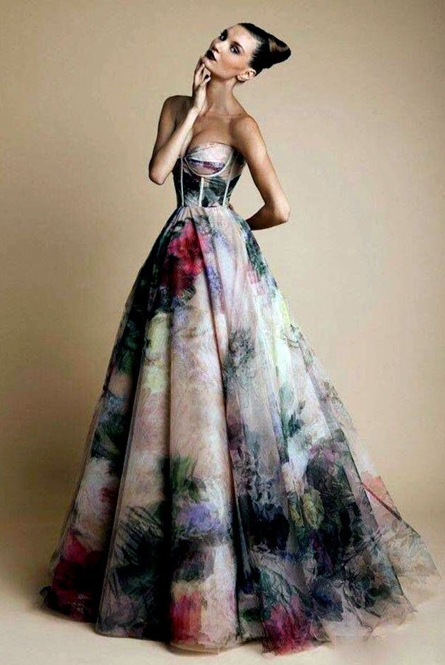 Colourful Wedding Dress Unconventional More