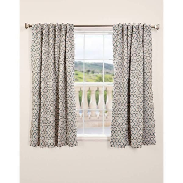 eff casablanca teal blackout 63inch curtain panel shopping the