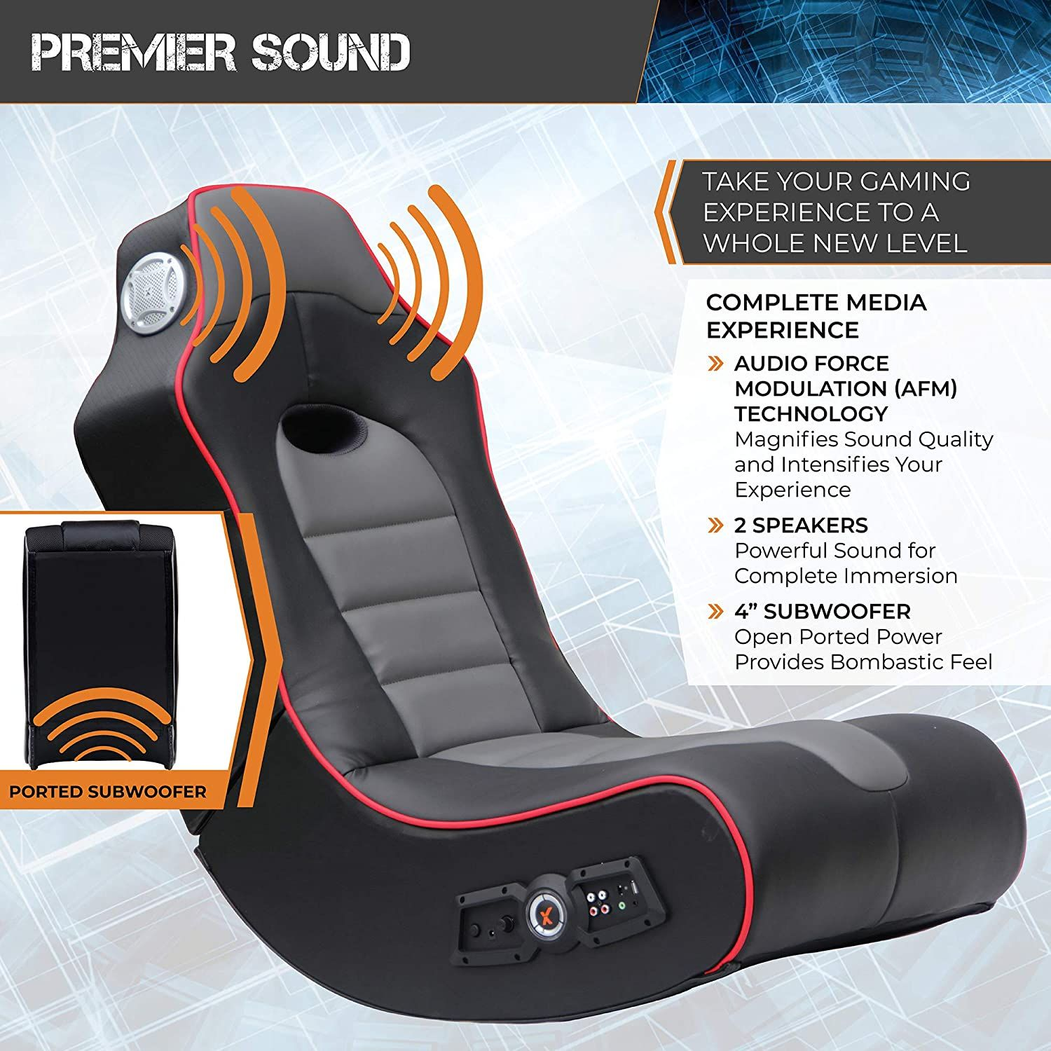 Sound Rocking Video Gaming Floor Chair in 2020 Leather