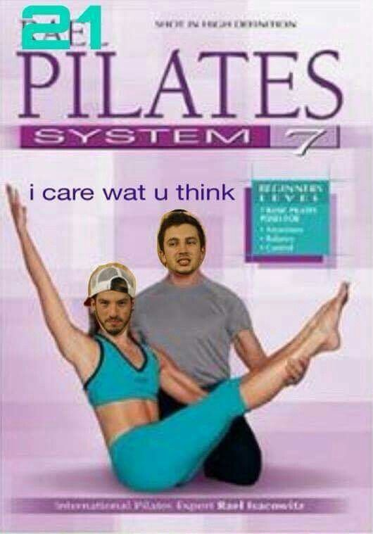 """who looked at this pilates disc and think """"wow i should make this a twenty one pilots edit"""""""