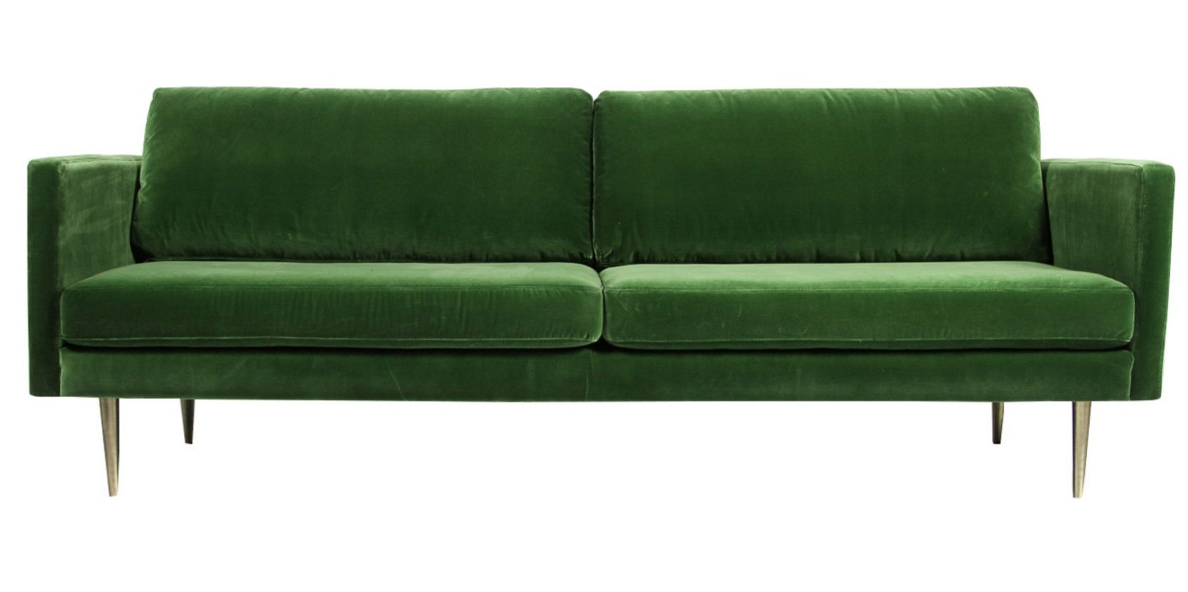 Matt Blatt Green Velvet Sofa Sartorial Interiors 3 Seater Sofa