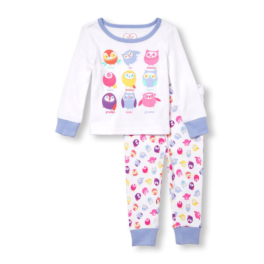 3c1f09662546 Baby And Toddler Girls Long Sleeve Owl Family Graphic Top And Owl ...