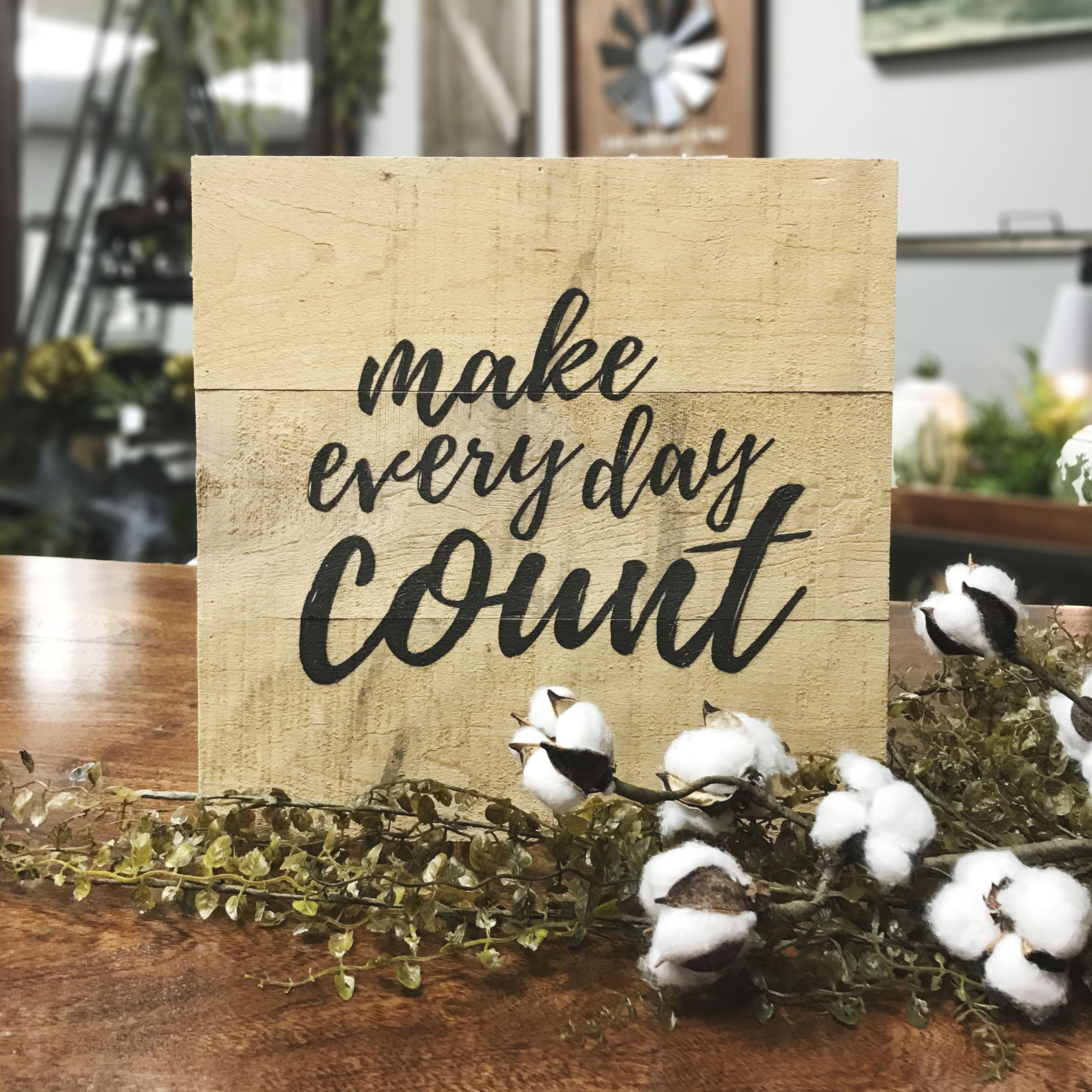 Make Every Day Count Rough Wood Sign #décor #rustic #farmhouse ...