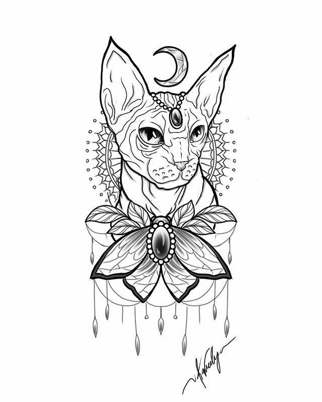Nacktkatze Tattoo