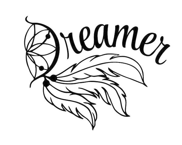Dreamer Dreamcatcher Words Decal This Would Also Be A