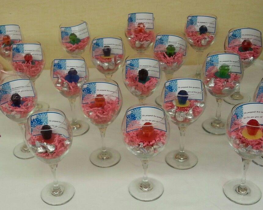 easy inexpensive bridal shower favors large wine glasses