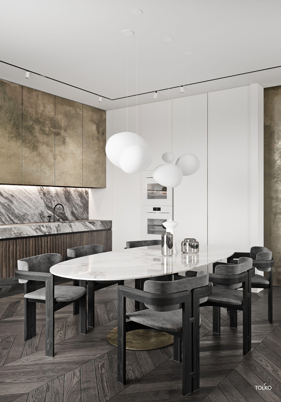 Modern Luxury Kitchens For A Grand Kitchen Minimalist Dining
