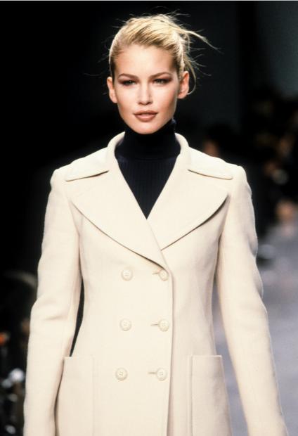 Valeria Mazza - DKNY Ready-To-Wear Fall/Winter 1996.