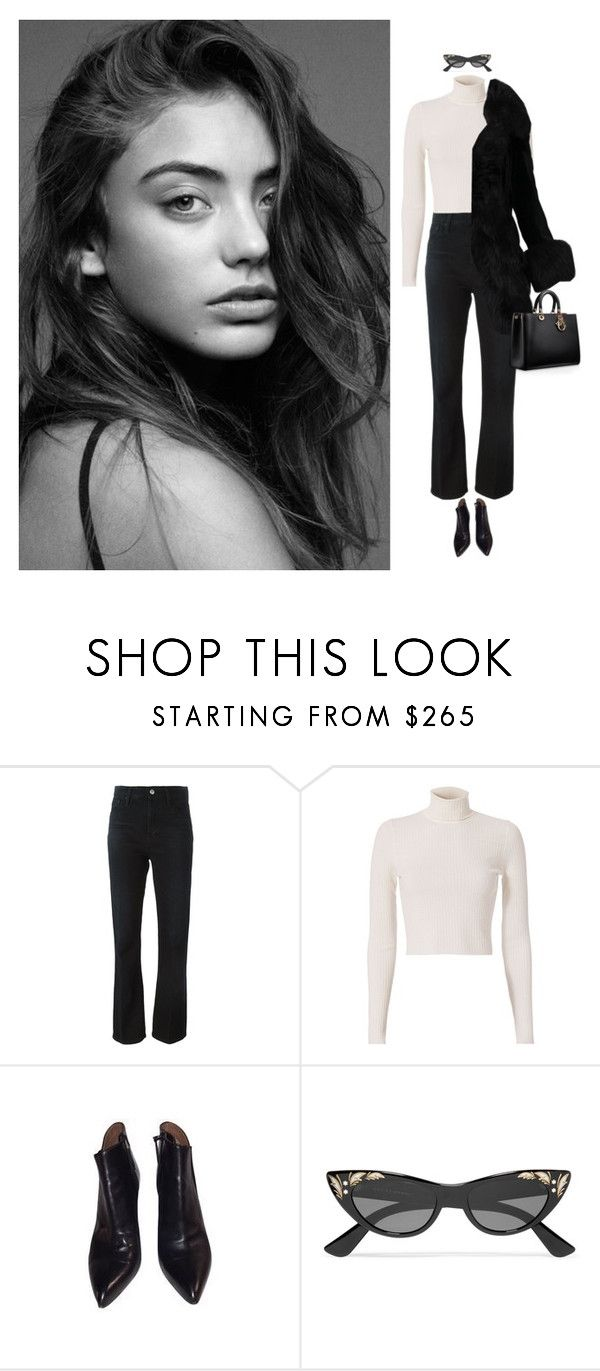 """""""Bad Habits"""" by laurenmarron ❤ liked on Polyvore featuring AG Adriano Goldschmied, A.L.C., Alaïa and Gucci"""