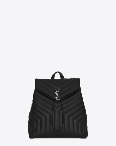 4bedf4f985b SAINT LAURENT Medium Loulou Monogram Backpack In Black
