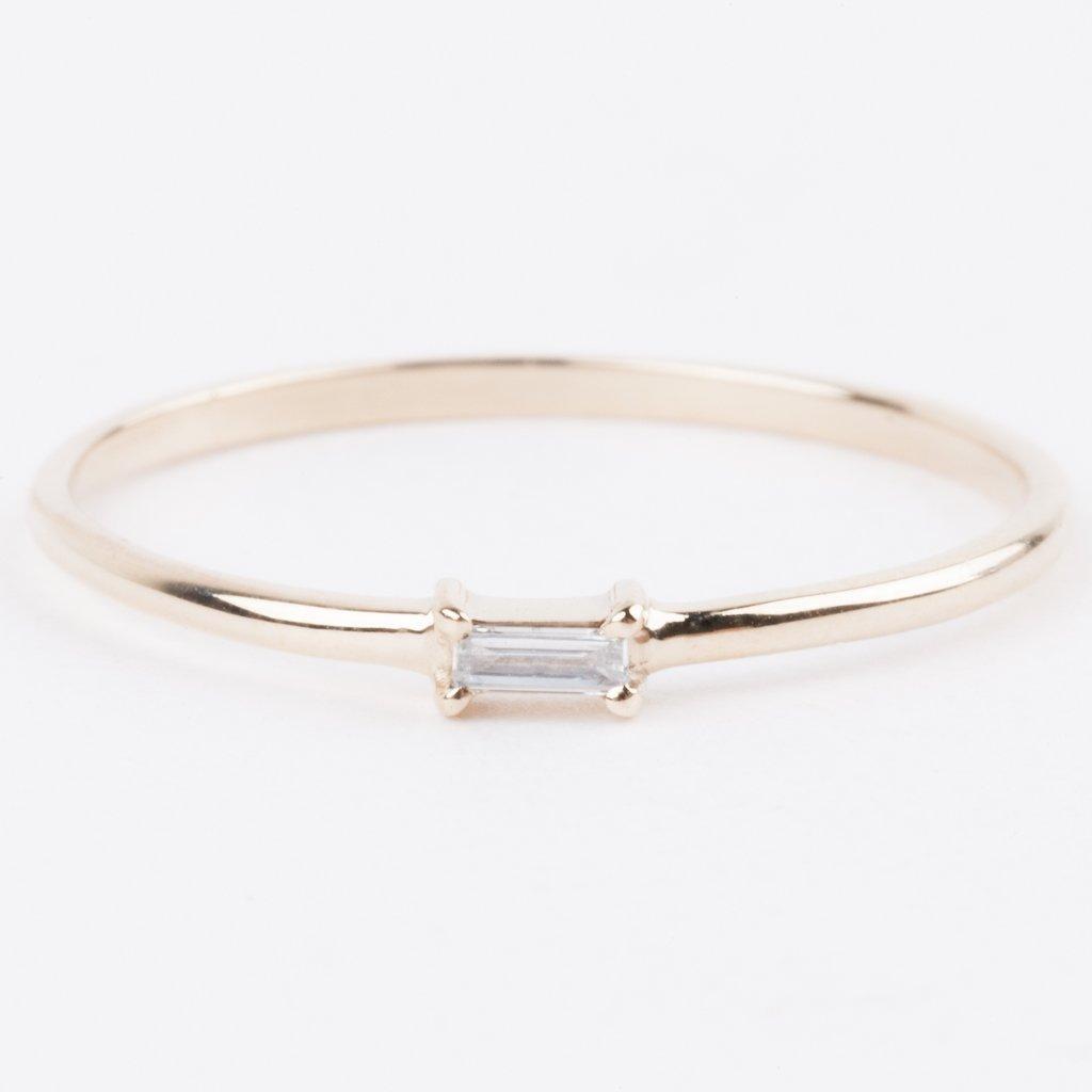 Single Baguette Diamond Ring Baguette Diamond Rings Baguette Diamond Diamond